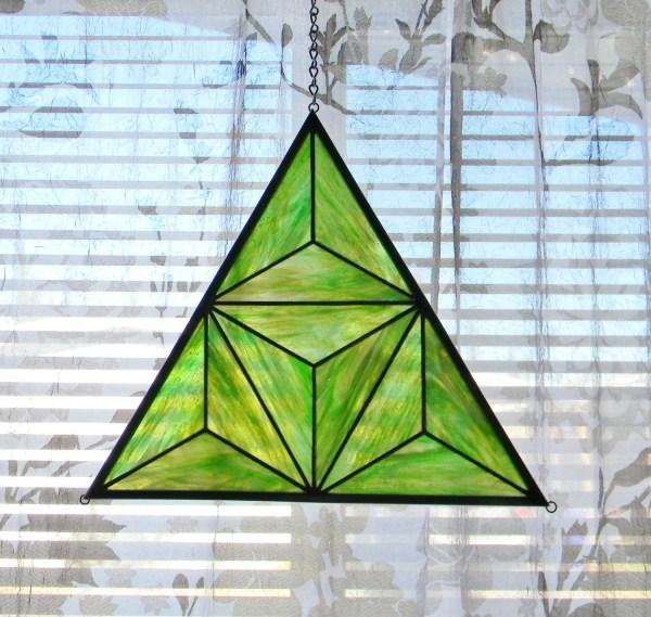 Geometric Stained Glass Window Panel In Ragnbonestudio
