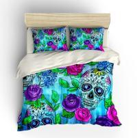 Skull Bedding Sugar Skulls Duvet COVER Comforter by ...