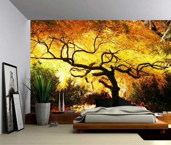 Maple Tree Large Wall Mural -adhesive Vinyl Wallpaper