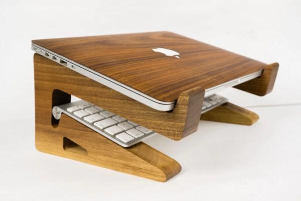 Walnut Wood Laptop Stand Riser-macbook Riser