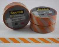 Washi Tape Orange Stripes Scotch Expressions 3M Paper Tape