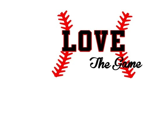 Download Items similar to Baseball Love The Game SVG or Silhouette ...