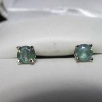 14kt Rare .64ct Natural Color Change Alexandrite Stud Earrings