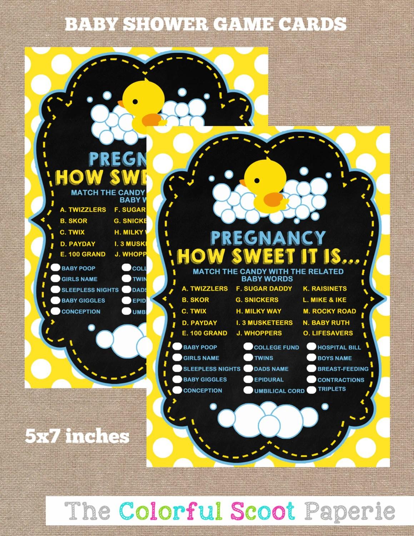 Instant Download Rubber Duck Baby Shower Pregnancy How Sweet
