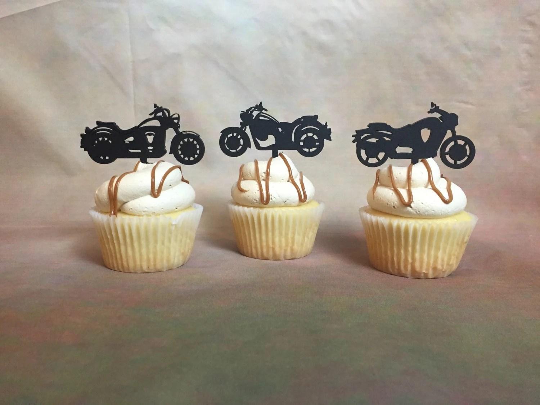 Motorcycle Cupcake Toppers Harley Davidson Cupcake Topper