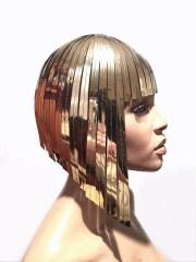 cleopatra metallic wig hairdress