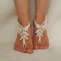 Lace Beach Wedding Foot Sandals