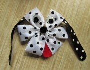 dalmatian dog hair bows girls