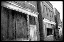 Abandoned Buildings Union Level Ghost Town Black & White