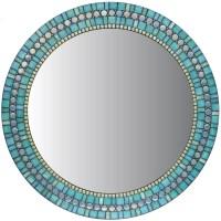 Turquoise Blue & Green Mosaic Wall Mirror by opusmosaics ...