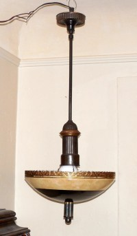 Vtg 1930's 1940's Art Deco Chandelier Modern Retro