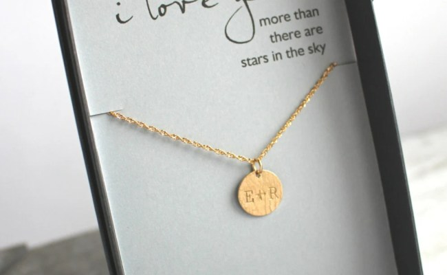 Engraved Jewelry Anniversary Gift For Wife Personalized