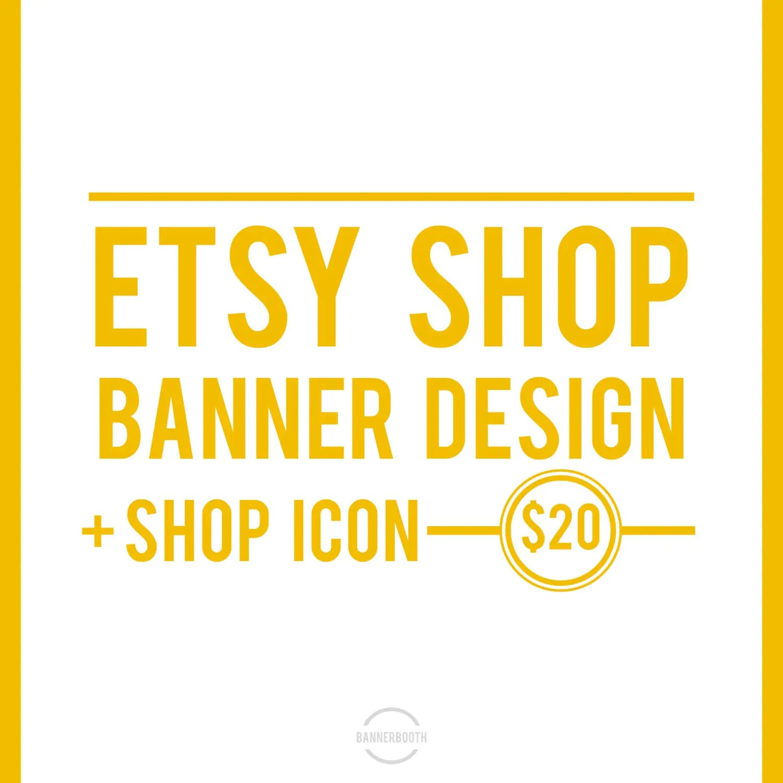 Etsy Shop Banner Custom Etsy Banner Customized Etsy Shop