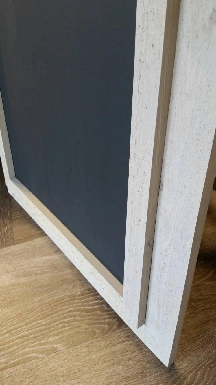 Large Framed Chalkboard Reclaimed Rough Cut Cedar Wood