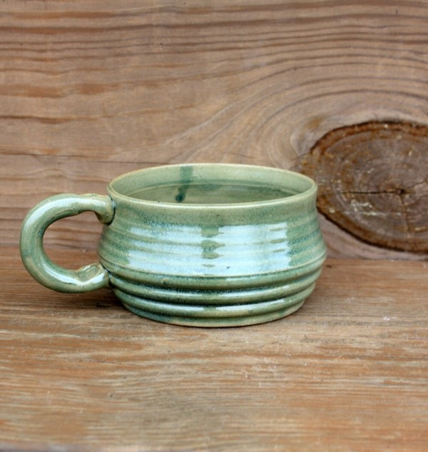 Handmade Pottery Soup Bowl with Handle
