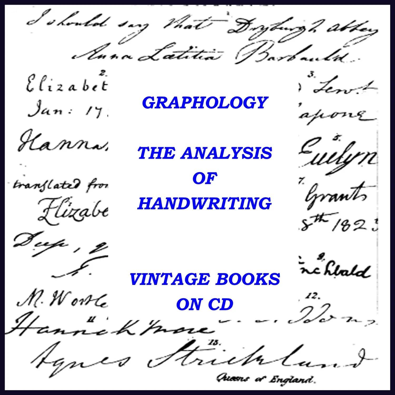 Graphology Handwritingysis Vintage Book Collection On Cd