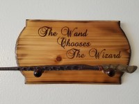 Harry Potter Wand Chooses The Wizard wall hanging wand holder