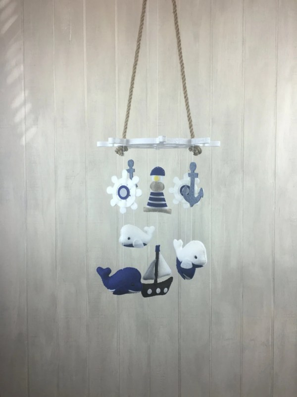 Baby Mobile Nautical Whale Anchor Ship