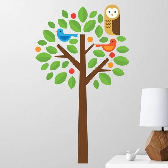 Owl Tree Wall Decal for Nursery by MaxwillStudio