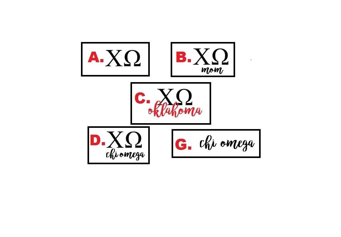 Kappa Kappa Gamma Decals by EliteSignsandGraphix on Etsy