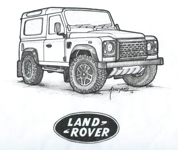 Items similar to Land Rover Defender 90 Print on Etsy