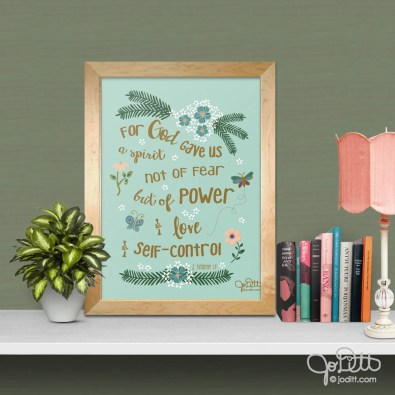 promises to pray when you are afraid by JoDitt Designs