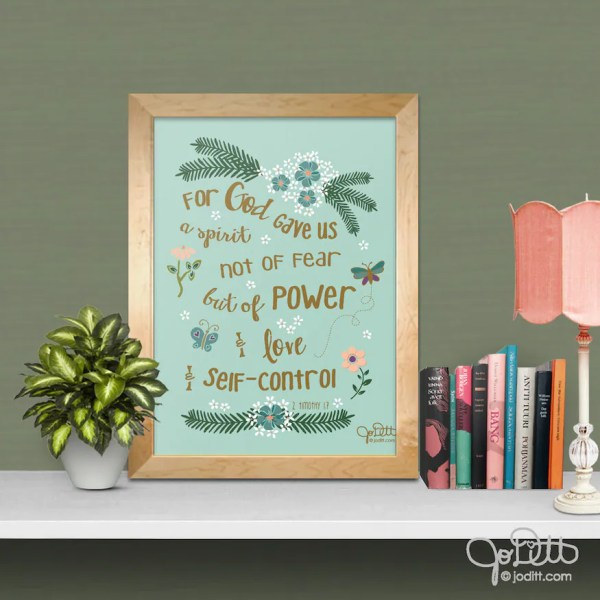 Bible Verse Printable by JoDitt Designs