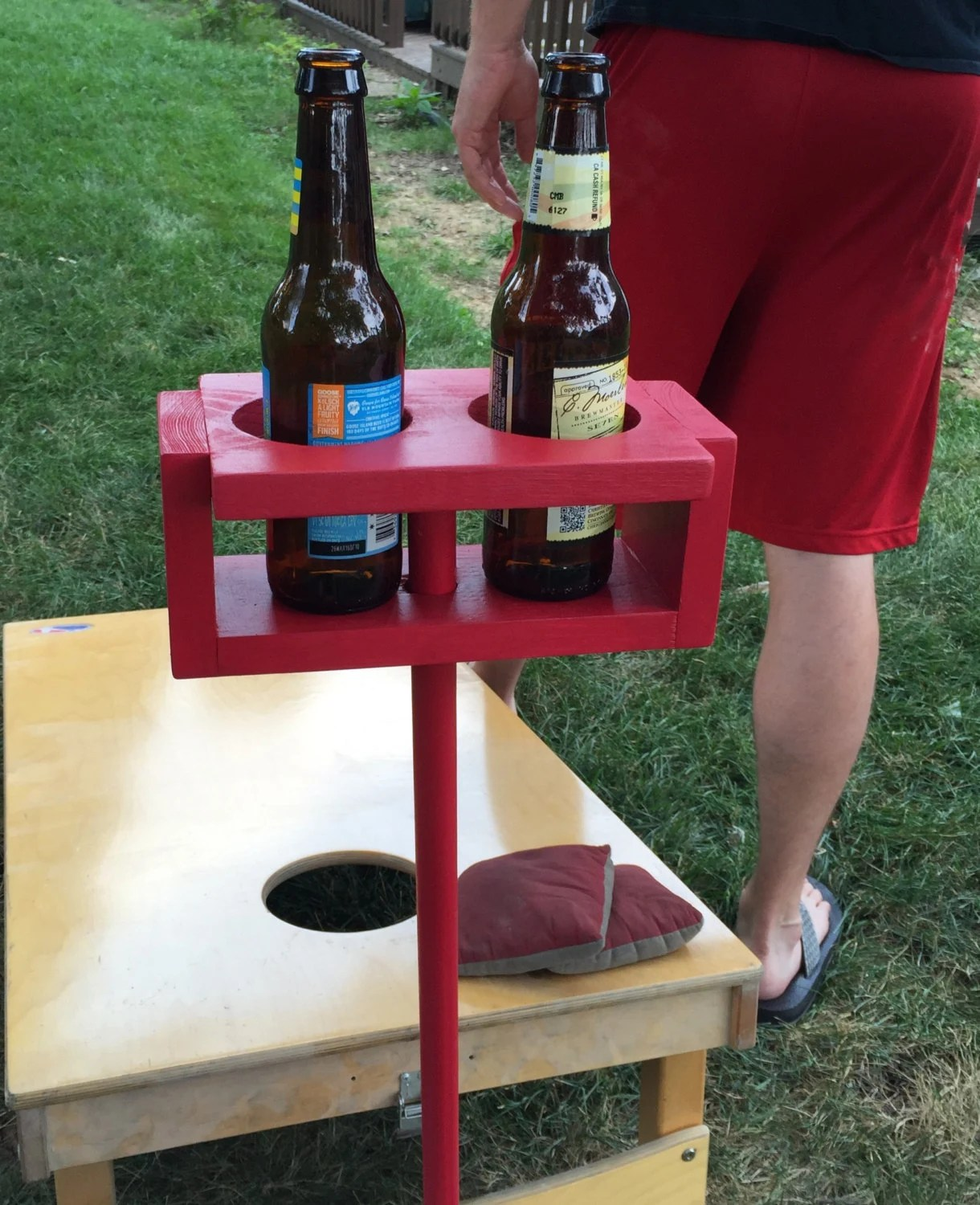 video game chair with cup holder big joe dorm yard drink holders cornhole games by newlovedecor
