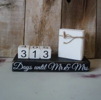 Wedding countdown block bridal shower bride to be by ...