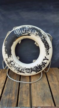 Vintage Life Preserver Ring Rustic Ring Buoy Nautical Home
