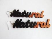 natural earrings black bronze