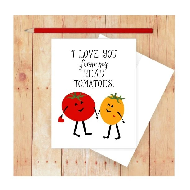 I Love You Card Funny Anniversary Card Food Pun Funny