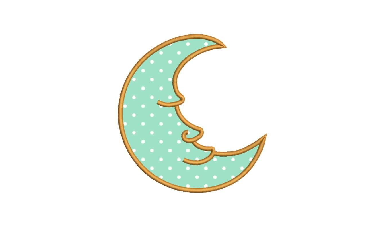 Cute Moon Applique Designs Machine Applique Embroidery Designs