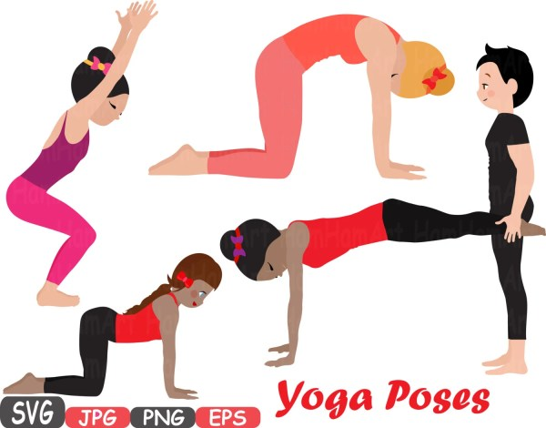 Yoga Poses Cutting Files Silhouettes Fitness And Health