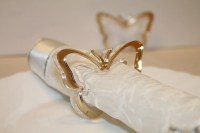 Gold Napkin Rings Gold Butterfly Napkin Ring holders For ...