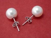 Pearl stud earrings real pearl earrings White pearl studs