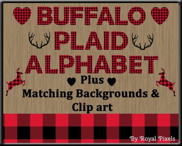 red lumberjack buffalo plaid uppercase
