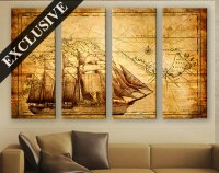 Large Wall Decor Canvas Set of 14 Panel Art // Extra Large