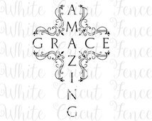 Popular items for amazing grace cross on Etsy