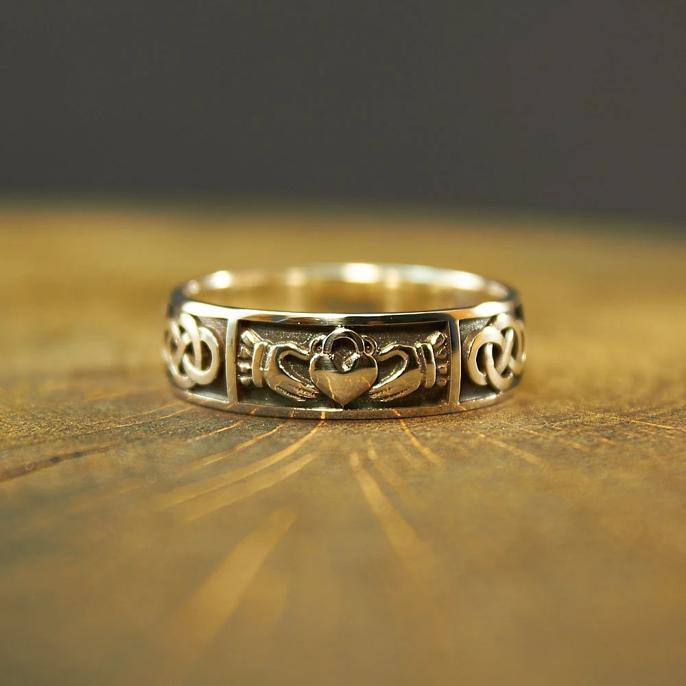 Claddagh Ring Sterling Silver Promise Ring by ArtigianoDesign