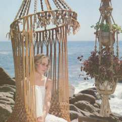 White Bohemian Hanging Chair Replacement High Covers Macrame Pdf Tutorial Instructions Hippie Boho