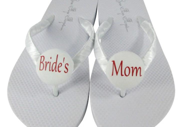 Bride And Groom Flip Flops