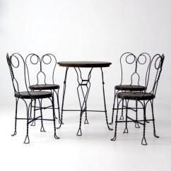 Ice Cream Table And Chairs Tommy Bahamas Beach Chair Parlor Vintage Black Cafe