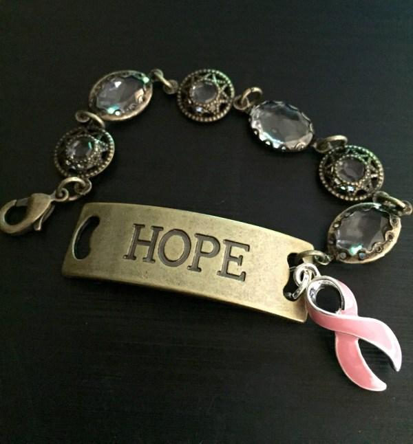Pink Ribbon Hope Bracelet Breast Cancer Survivor Awareness