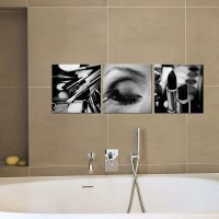 Bathroom Decor/canvas art/black and white makeup by ...