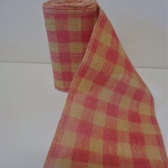 Burlap Chair Sashes Canada Folding Heavy Duty Pink Checkered 10 Yard Roll From