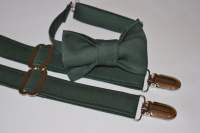 Hunter Green suspenders and bow tie. Dark green bow tie ...