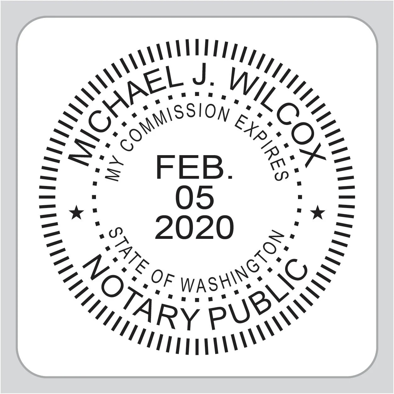 Washington State Notary Stamp Washington State Notary Public