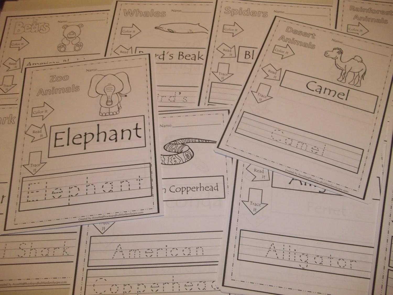 281 Printed Animal Tracing Worksheets Preschool