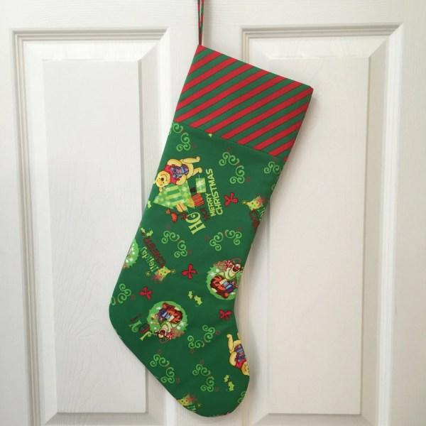 Winnie Pooh Christmas Stocking Ready Ship